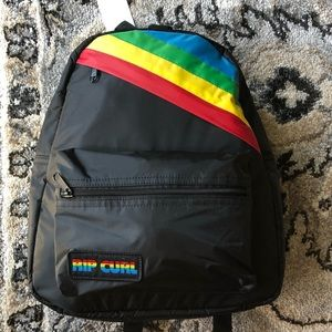 Black Rainbow mini backpack